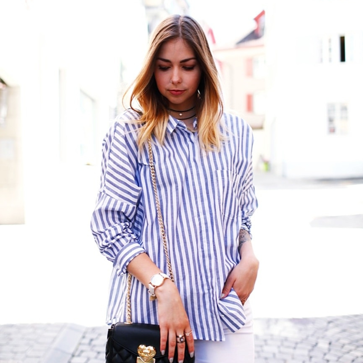 Trend Look: Loafer Addiction + Baby Blue Blouse