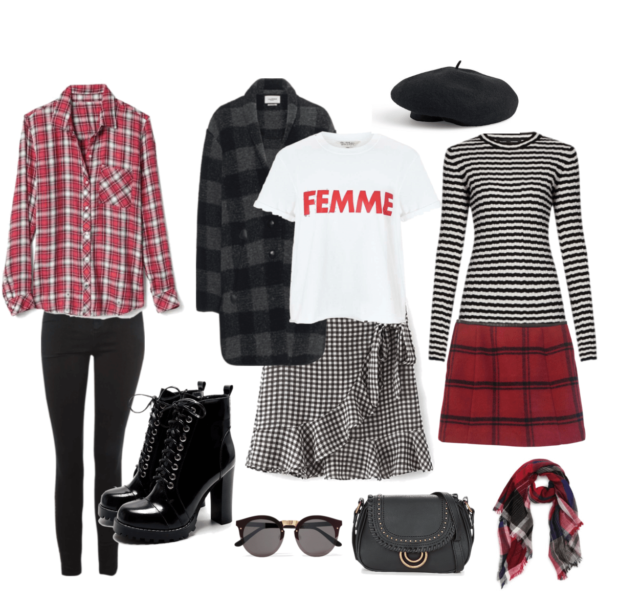 checkered red fashion trend