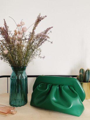 Themoiré Clutch green